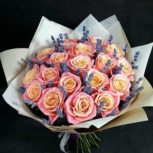 19 роз мисс пигги: букеты цветов на заказ Flowwow