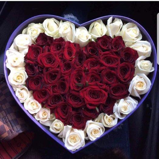 Коробочка Сердце: букеты цветов на заказ Flowwow