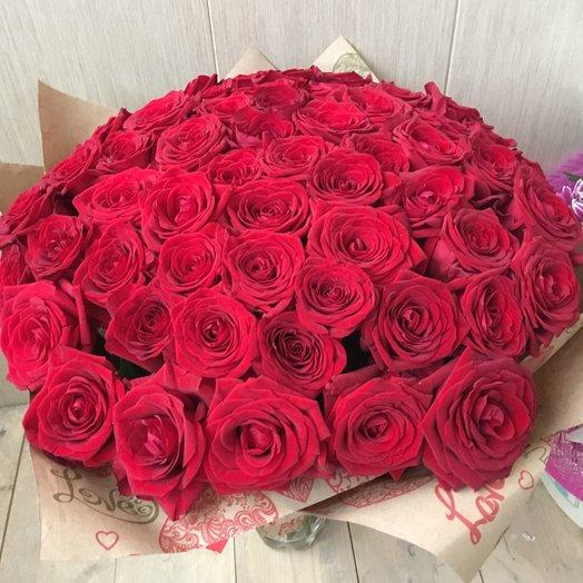Букет роз Ред Наоми 51 шт