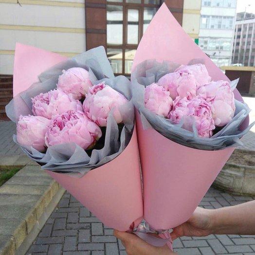 Букет пионов Сара Бернар: букеты цветов на заказ Flowwow