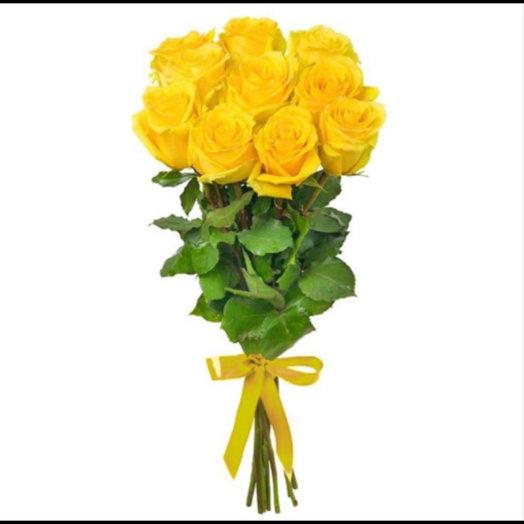 Жёлтые розы : букеты цветов на заказ Flowwow