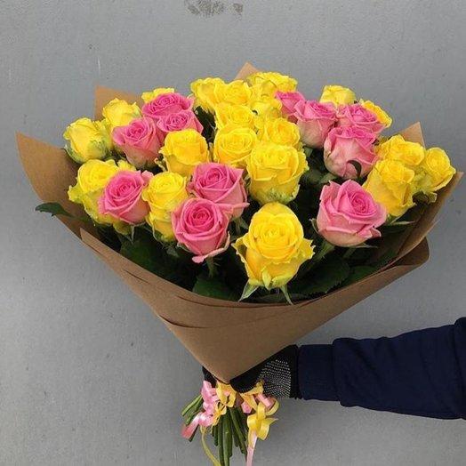 Букет из 29 роз Аква и Пенни Лейн: букеты цветов на заказ Flowwow