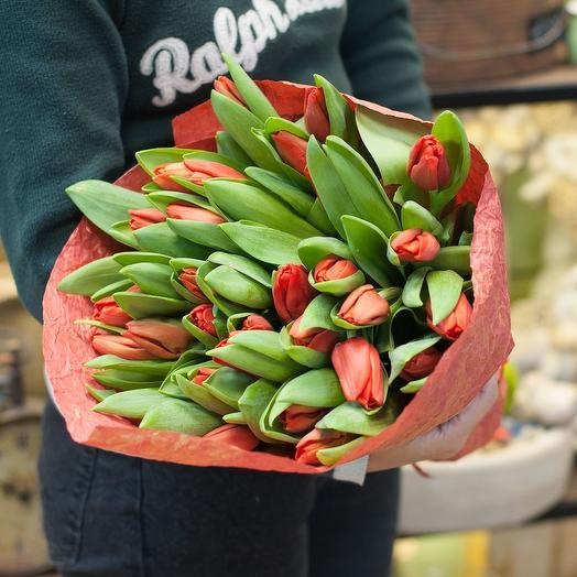 """Букет  тюльпанов """"Красные тюльпаны"""": букеты цветов на заказ Flowwow"""