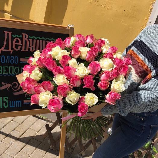 71 роза микс: букеты цветов на заказ Flowwow