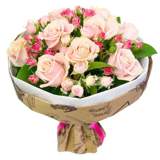 """Букет из роз """"Мими"""": букеты цветов на заказ Flowwow"""