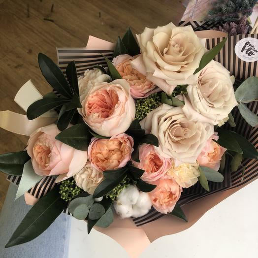 Персиковая зима: букеты цветов на заказ Flowwow