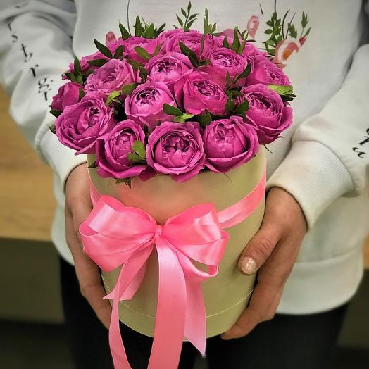 Коробки с цветами.Пионовидная кустовая роза. N332