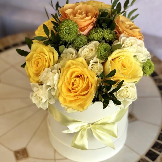 Шляпная коробка Португеза: букеты цветов на заказ Flowwow