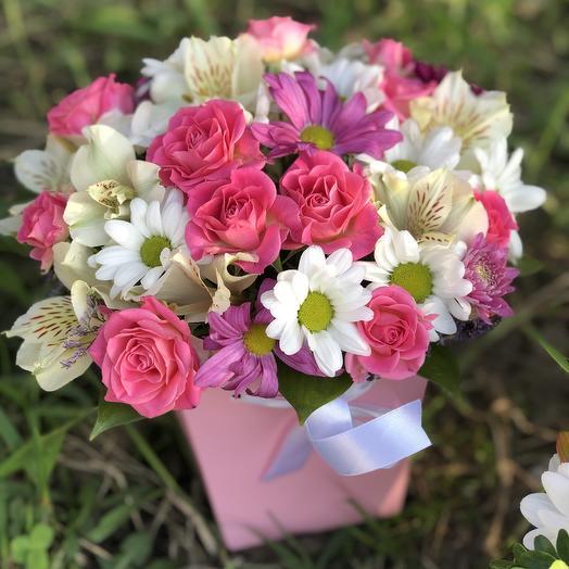 """Цветы в коробке  """"Мадлен"""": букеты цветов на заказ Flowwow"""