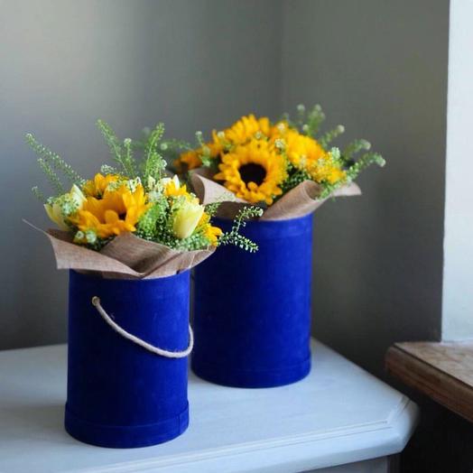 Композиция Солнечное Море: букеты цветов на заказ Flowwow