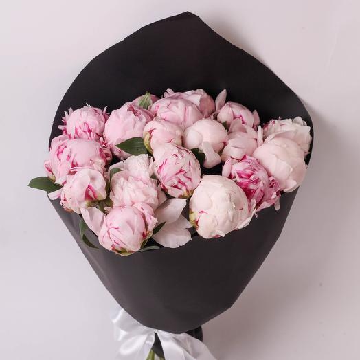 19 пионов Sarah Bernardt Craft: букеты цветов на заказ Flowwow