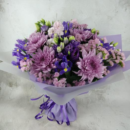 Фиолетовый микс: букеты цветов на заказ Flowwow