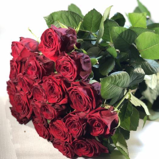 21 роза 60см