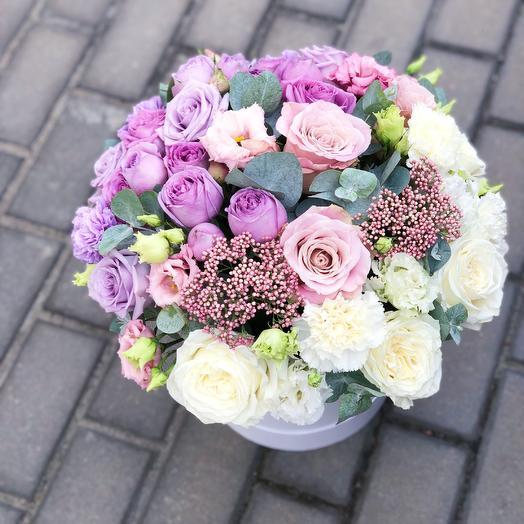 Цилиндр омбре: букеты цветов на заказ Flowwow