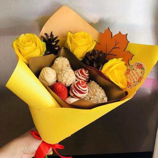 Клубничка «Осень»: букеты цветов на заказ Flowwow