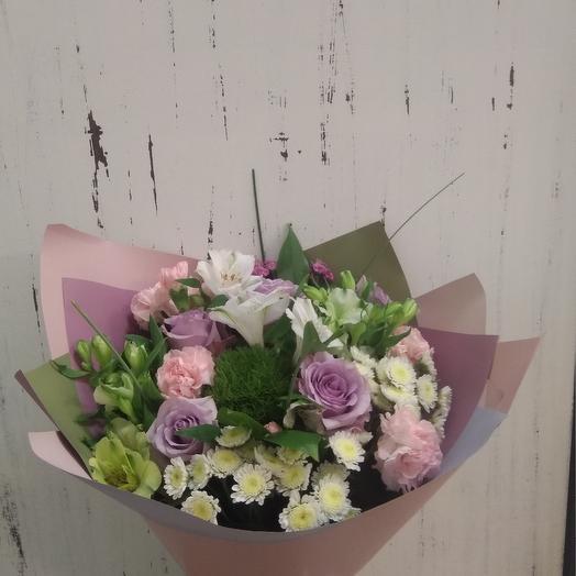 Букет с сиреневыми розами: букеты цветов на заказ Flowwow