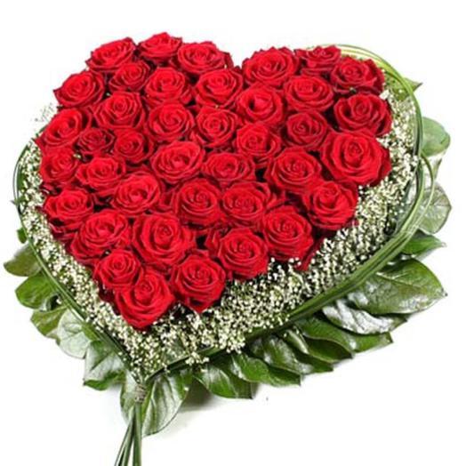 "Композиция из роз ""Валентинка"": букеты цветов на заказ Flowwow"