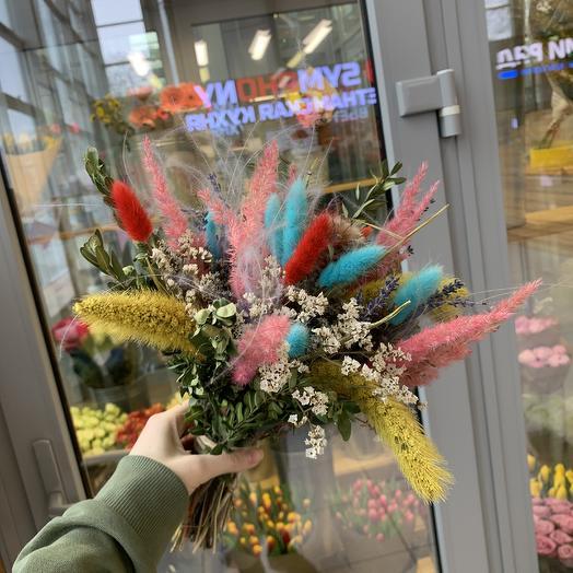 Веселый сухоцветов: букеты цветов на заказ Flowwow
