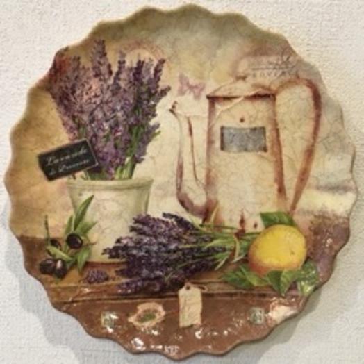 Декоративная тарелка «Прованс»: букеты цветов на заказ Flowwow