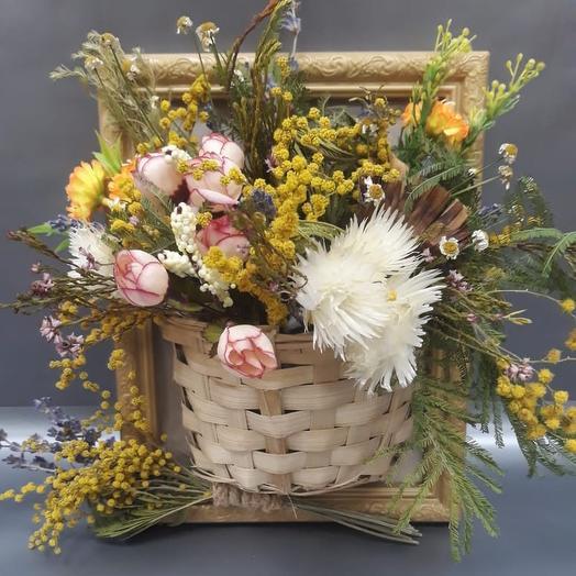 Композиция Лесная корзинка: букеты цветов на заказ Flowwow