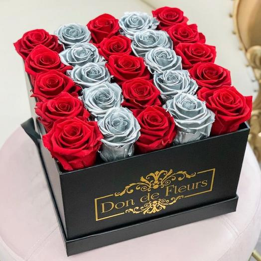 Roses in box 25 PCs