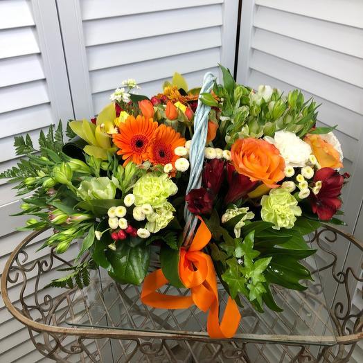 Корзина из цветов: букеты цветов на заказ Flowwow