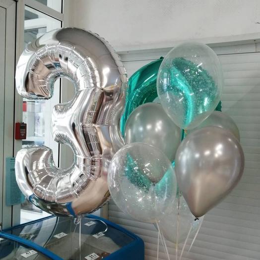Гелиевые шары с обработкой 30 Лет