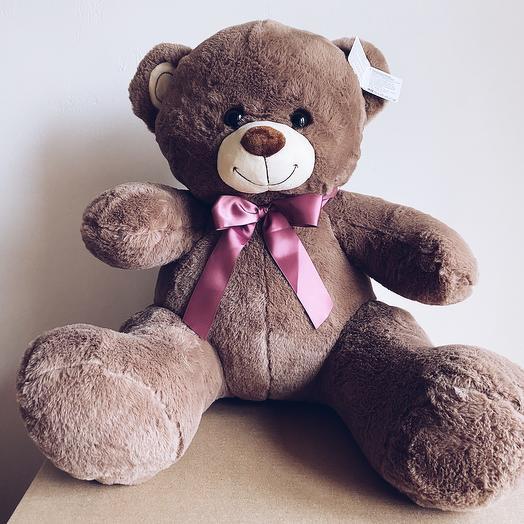 Плюшевый медведь 90 см коричневый