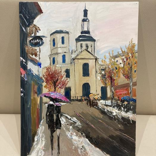 «La parapluie rose à Paris»