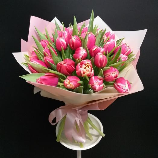 35 пионовидных тюльпанов Каламбус