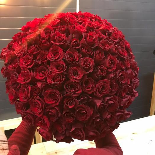 101 алая Роза (50см)