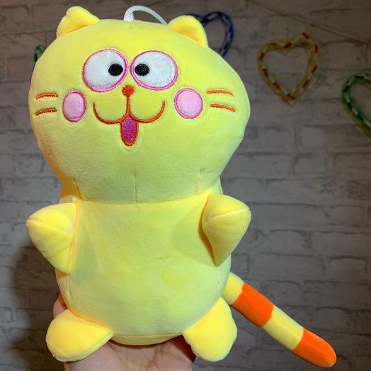 Кот жёлтый, 25см