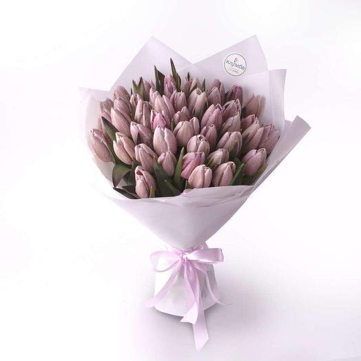 """Букет из тюльпанов """"Мagic pink"""""""