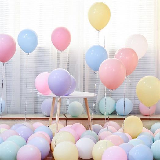 Пастельные воздушные шары