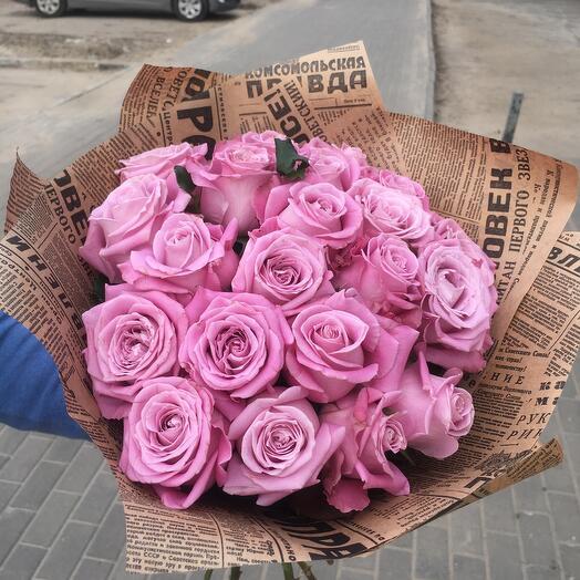 21 сиреневая роза