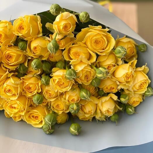 Еллоу Баблз пионовидная роза