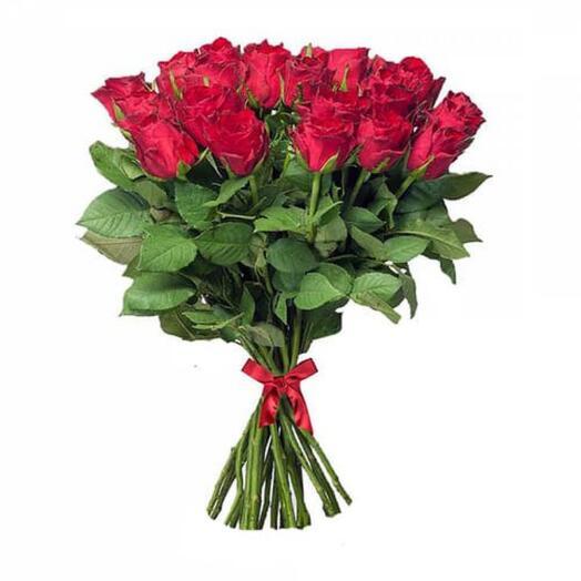 21 розовых роз