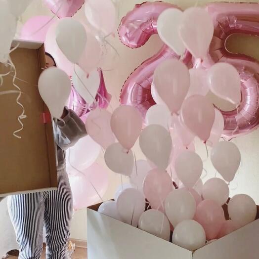 Воздушные шарики на юбилей