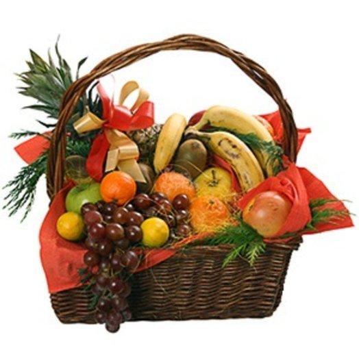 251952 Корзина фруктов: букеты цветов на заказ Flowwow