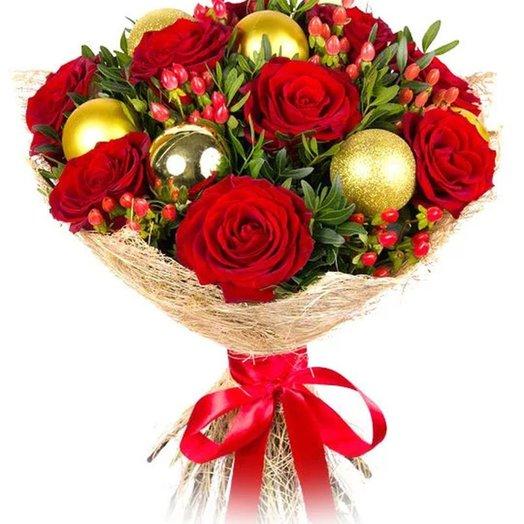 """Букет """"Розы и шары"""". Код 180009"""