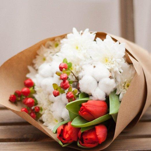 Оттенки красного: букеты цветов на заказ Flowwow