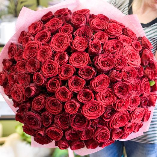 """Букет из 101-й  розы """"Миллион алых роз"""": букеты цветов на заказ Flowwow"""