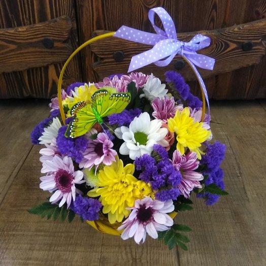 Яркое лето хризантема статица: букеты цветов на заказ Flowwow