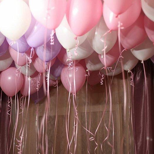 Воздушный нежный микс из 35 шаров