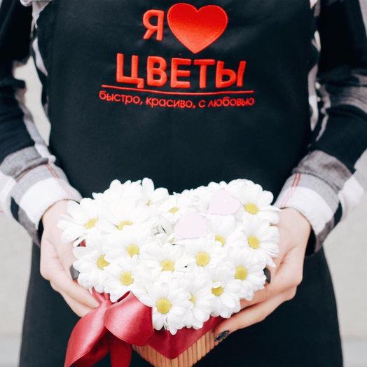 Сердце «нежность»: букеты цветов на заказ Flowwow