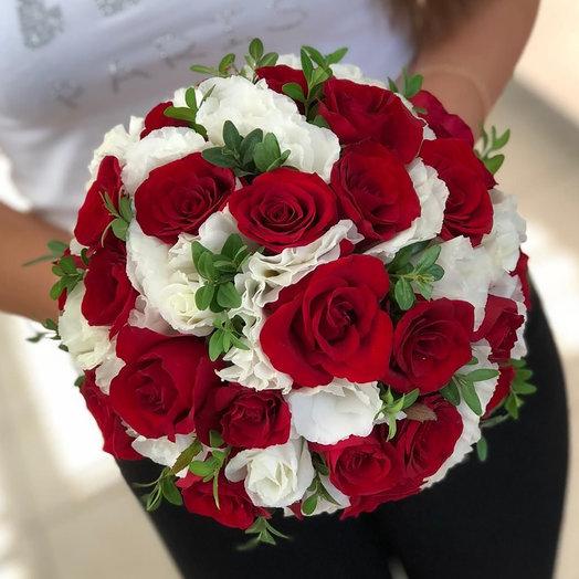 """Свадебный букет невесты """"Цветочный рай"""""""