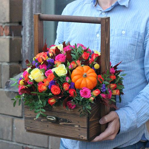 Цветочный ящик с конфетами
