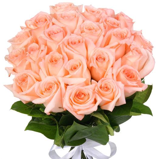 Букет из 25 нежно розовых эквадорских роз