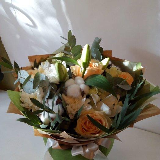 Весенний букет с лилиями : букеты цветов на заказ Flowwow