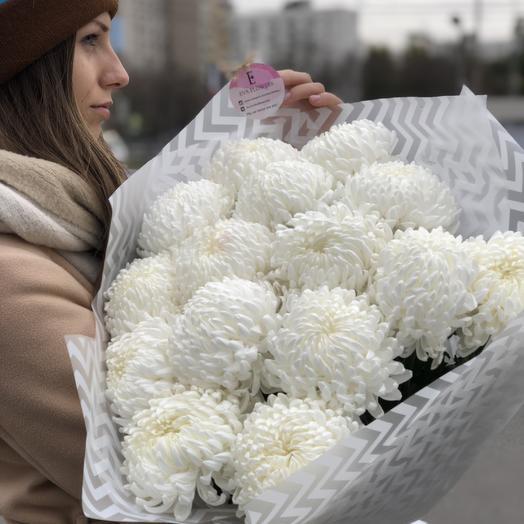 Шарики хризантемок: букеты цветов на заказ Flowwow